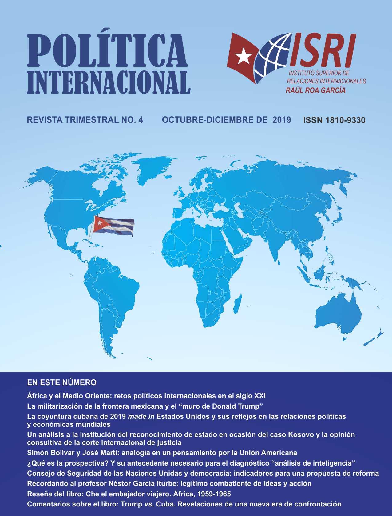 No. 4 Política Internacional